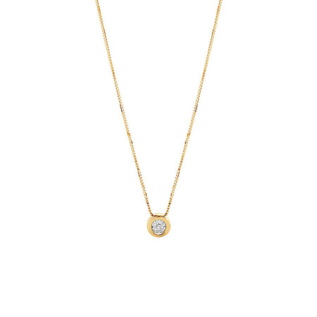 Pendant with a Diamond in 10ct Yellow Gold