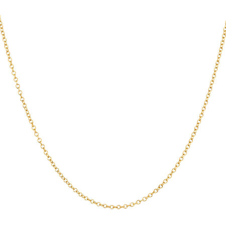 "45cm (18"") Cable Chain in 10ct Yellow Gold"