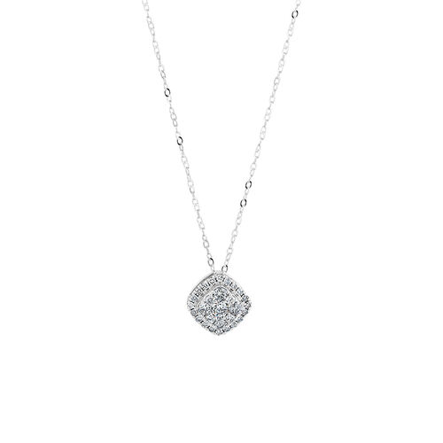 Pendant with 0.50 Carat TW of Diamonds in 10ct White Gold