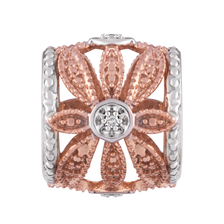 Diamond Set, 10ct Rose Gold & Sterling Silver Charm