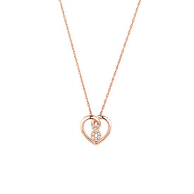 Mini Infinitas Pendant with Diamonds in 10ct Rose Gold