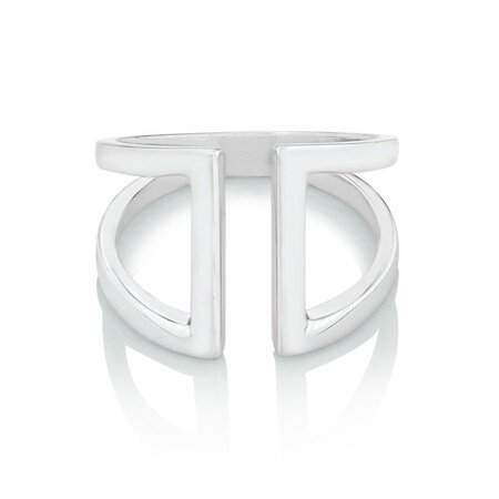Geometric Bar Ring in Sterling Silver