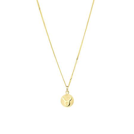 Taurus Zodiac Pendant in 10ct Yellow Gold