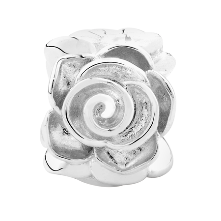 Sterling Silver Rose Charm