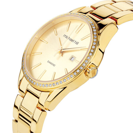 Ladies Watch with 0.3 Carat TW of Diamonds in Gold Tone Stainless Steel