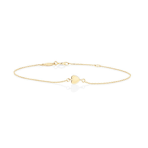 Minimal Heart Bracelet In 10ct Yellow Gold