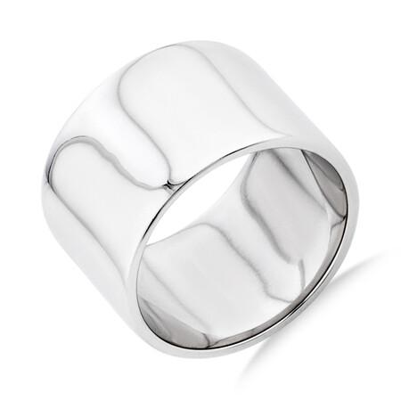 12mm Barrel Ring in Sterling Silver
