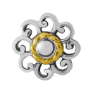 Sterling Silver & 10ct Yellow Gold Flower Charm