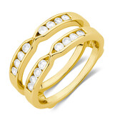 Enhancer Ring with 1/2 Carat TW of Diamonds in 14ct Yellow Gold