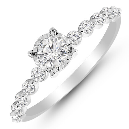 Ring with 0.62 Carat TW of Diamonds in 14ct White Gold