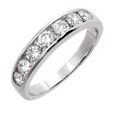 Wedding Band with 1 Carat TW of Diamonds in 18ct White Gold