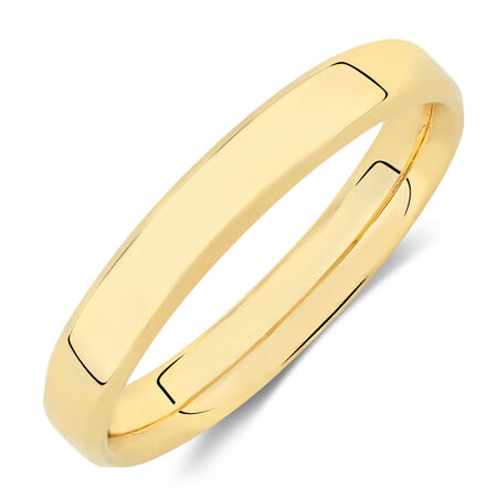 Wedding Band in 18ct Yellow Gold