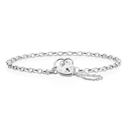 """19cm (7.5"""") Belcher Bracelet in Sterling Silver"""
