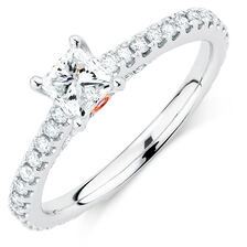 Sir Michael Hill Designer GrandAria Engagement Ring with 0.95 Carat TW of Diamonds in 14ct White Gold