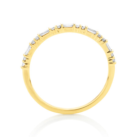 Evermore Wedding Band with 0.20 Carat TW of Diamonds in 10ct Yellow Gold
