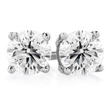 Stud Earrings with 1 Carat TW of Diamonds in 14ct White Gold