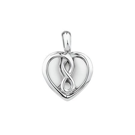 Infinitas Enhancer Pendant in Sterling Silver