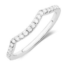 Michael Hill Designer Adagio Wedding Band with 0.39 Carat TW of Diamonds in 14ct White Gold