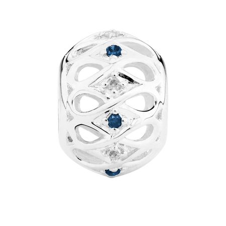 White &Enhanced Blue Diamond Set Marrakesh Charm