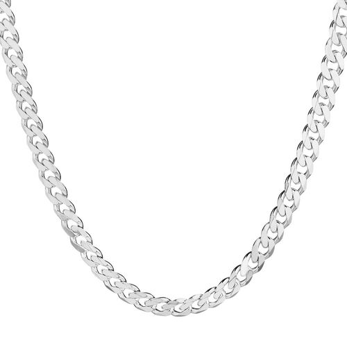 """55cm (22"""") Curb Chain in 925 Sterling Silver"""
