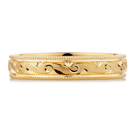 Wedding Band in 10ct Yellow Gold