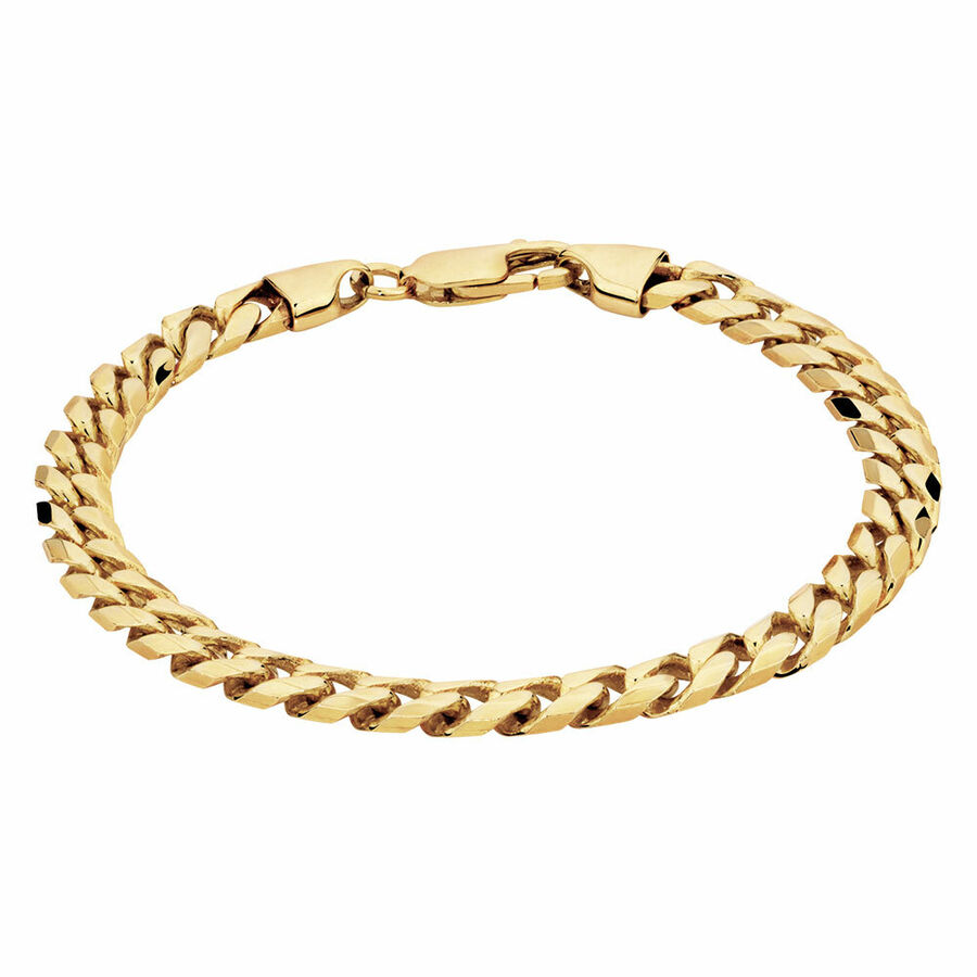 Men's Curb Bracelet in 10ct Yellow Gold