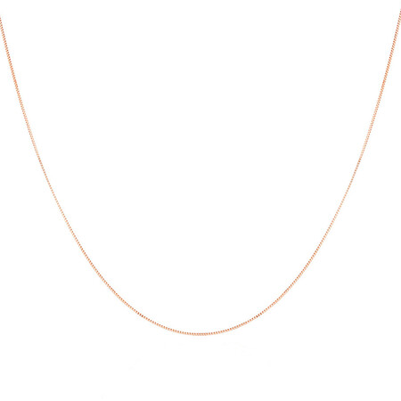 """70cm (28"""") Box Chain in 10ct Rose Gold"""