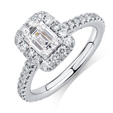 Sir Michael Hill Designer GrandAllegro Engagement Ring with 2 Carat TW of Diamonds in 14ct White Gold