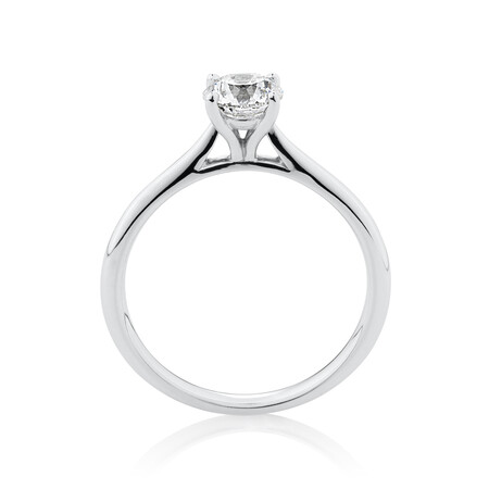 Evermore Certified Solitaire Engagement Ring with a 0.70 Carat TW Diamond in 14ct White Gold