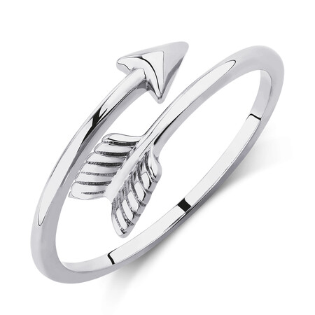 Arrow Wrap Ring in 10ct White Gold