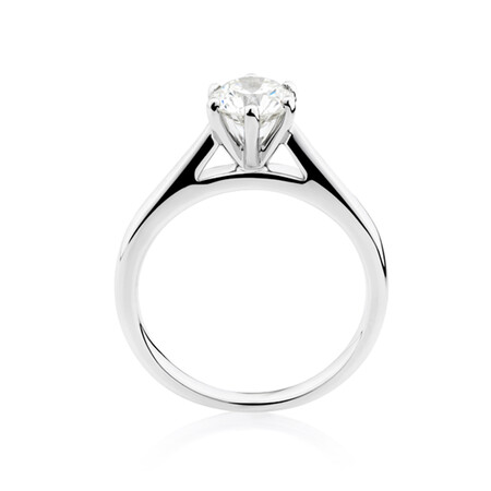 1 Carat Diamond Solitaire Ring in 10ct White Gold