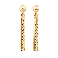Drop Bar Earrings in 10ct Yellow Gold