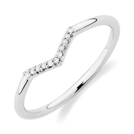 Arrow Ring with Diamonds in Sterling Silver