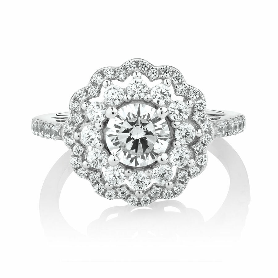 Ring with Luxe Cubic Zirconia in Sterling Silver