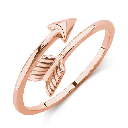 Arrow Wrap Ring in 10ct Rose Gold