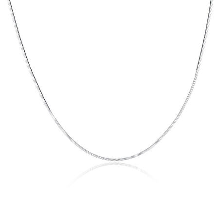 "45cm (18"") Flat Snake Chain in Sterling Silver"