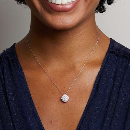 Pendant with 1 Carat TW of Diamonds in 10ct White Gold