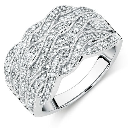 Ring with 1/2 Carat TW of Diamonds in Sterling Silver