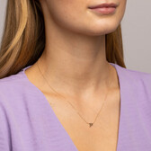 """""""P"""" Initial Necklace in 10ct Yellow Gold"""