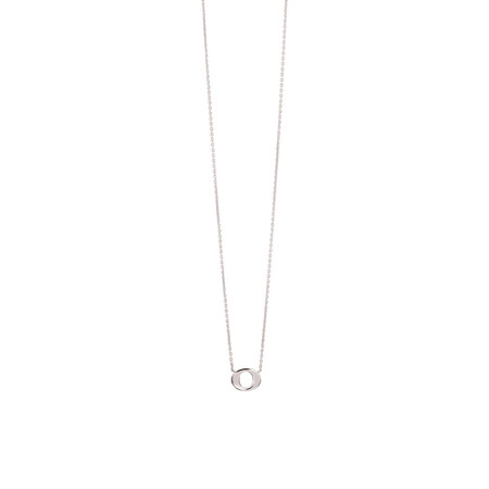 """""""O"""" Initial Necklace in Sterling Silver"""