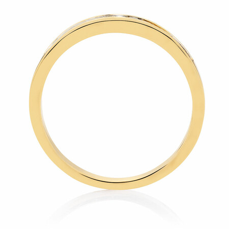 Wedding Band with 0.33 Carat TW of Diamonds in 18ct Yellow Gold