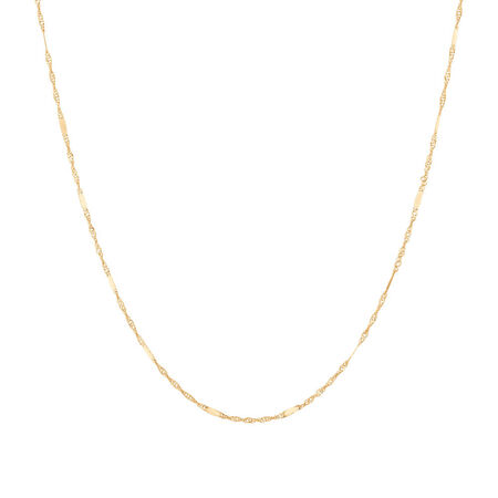 "50cm (20"") Singapore Chain in 10ct Yellow Gold"