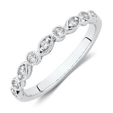 Evermore Wedding Band with Diamonds in 10ct White Gold