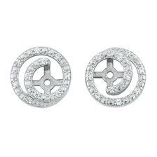 Swirl Earring Enhancers with Cubic Zirconia in Sterling Silver