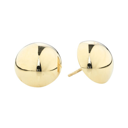 Online Exclusive - 14mm Stud Earrings in 14ct Yellow Gold