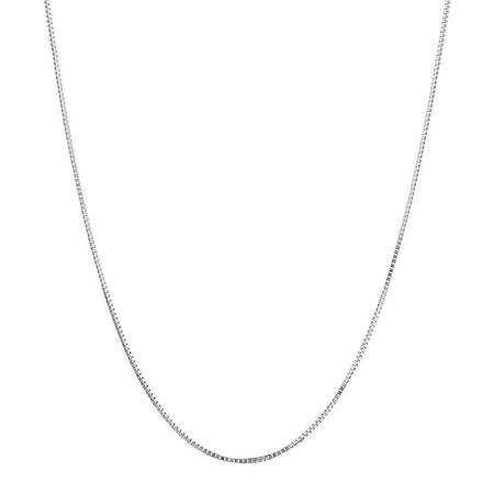 """50cm (20"""") Box Chain in 18ct White Gold"""