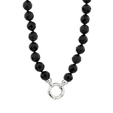 Online Exclusive - Necklace with Black Onyx in Sterling Silver