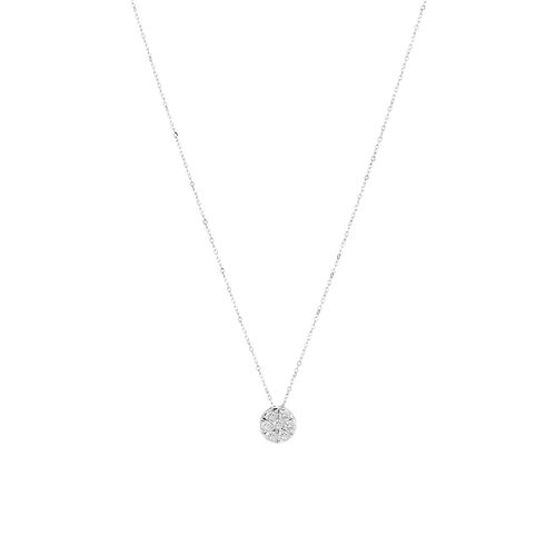 Pendant with 0.25 Carat TW Of Diamonds in 10ct White Gold