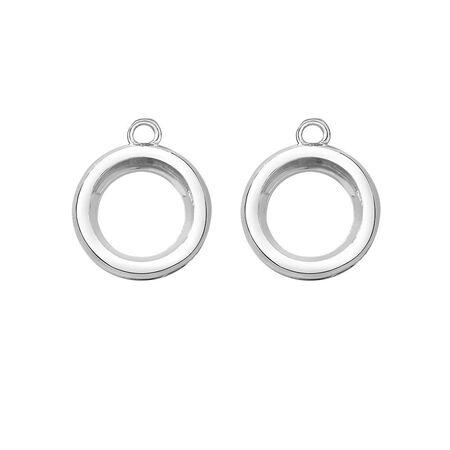 Mini Coin Locket Earrings Case Set in Sterling Silver