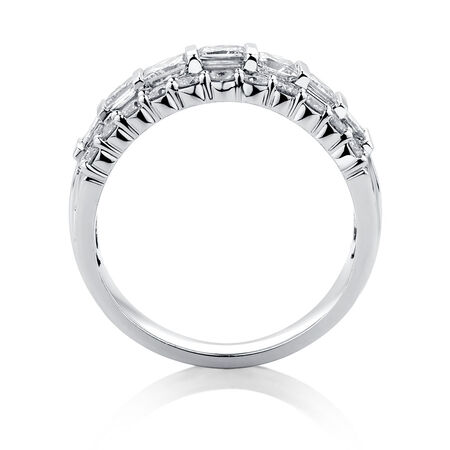 Ring with 2 Carat TW of Diamonds in 18ct White Gold